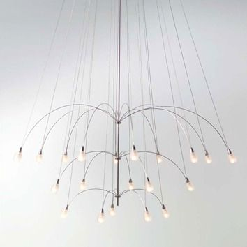 Lbl lighting twilight glass teardrop 20 light chandelier