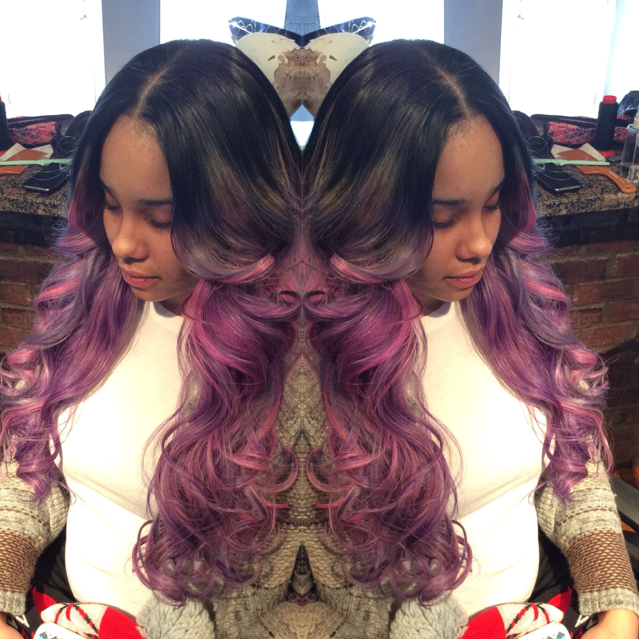 Sew in. Color. #teqnicalstyles #stylesbyteq