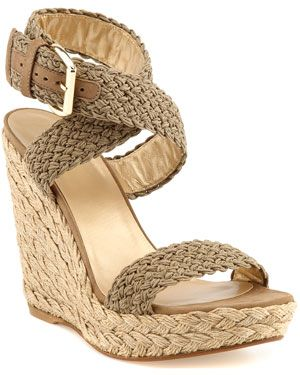 My favorite pair of shoes in the closet - can't wait to break them out this year - Stuart Weitzman 'Alex' Crochet Espadrille Sandal