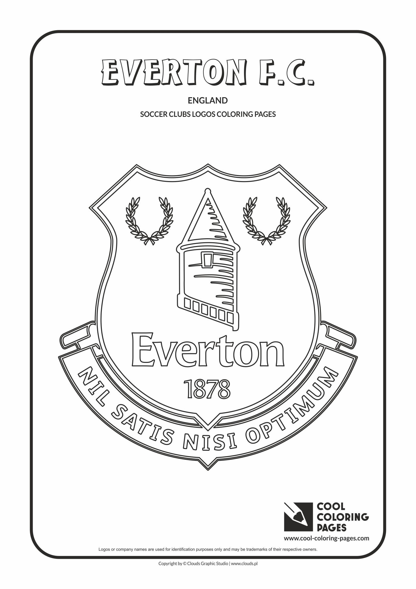 Everton F.C. logo coloring / Coloring page with Everton F