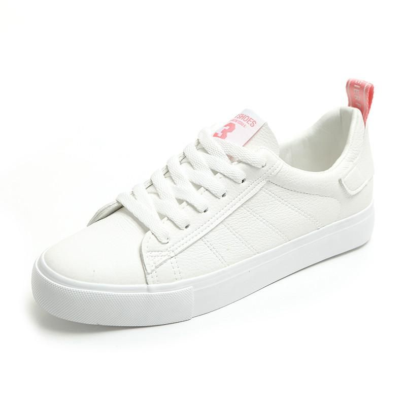 huge selection of 10293 eafde HUANQIU 2018 New Women Shoes White Sneakers for Female Fresh Style  Zapatillas Deportivas Mujer Scarpe Donna Sportive Pink 35-39