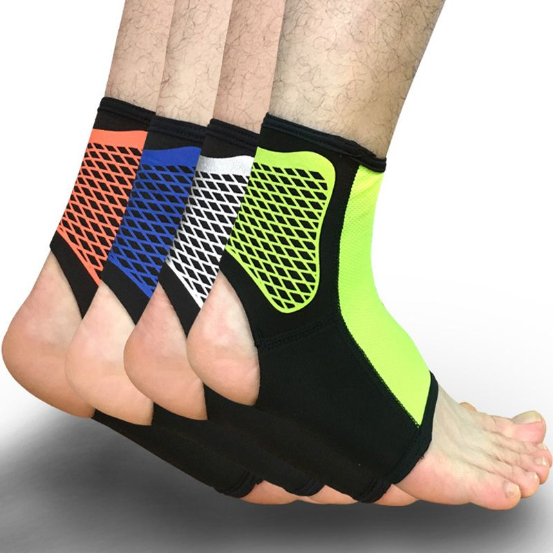 Breathable Elastic Ankle Support Brace Guard Pad Foot Protection Wrap Sports Gym