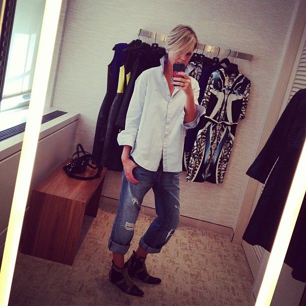 Tiffany Wendel in MiH Jeans Shirt