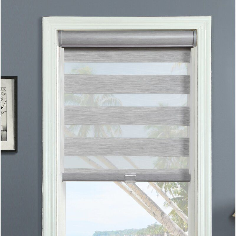 Cordless Layered Sheer Roller Shade In 2020 With Images Sheer