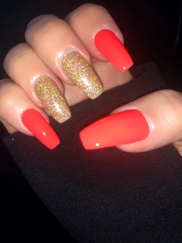 Orange Neon Nail Polish Nail Lacquer 10 Free Nail Polish: | Etsy