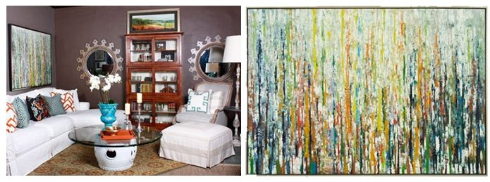 We Were Delighted To Spot Lines, The John Richard Oil Painting By Jinlu In  This Creative And Eclectic Vignette By Kathy Adams Interiors Of Plano, TX.