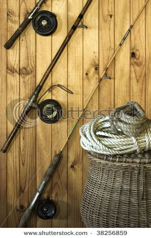 Display Old Fishing Poles On Wall Fishing Basket Fishing Pole Decor Fishing Decor