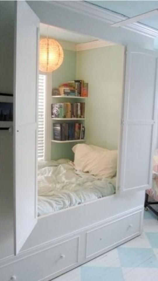 i want this bed so much! So cute and cosy and such a space saver too!