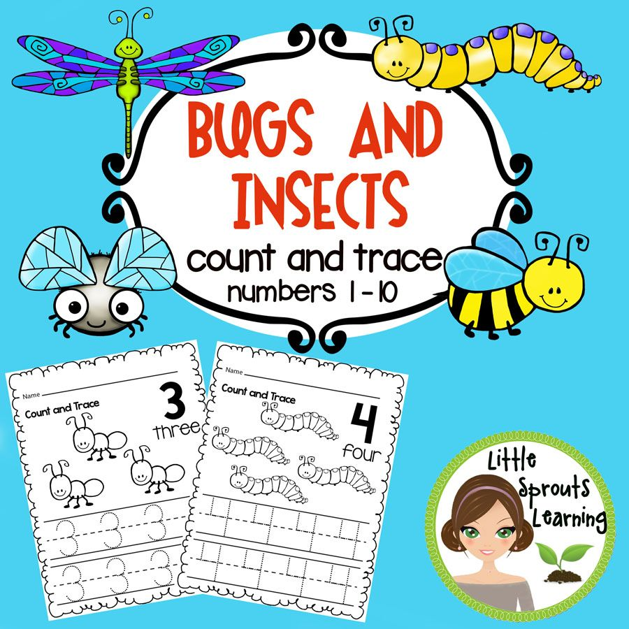 Bugs and Insects Count and Trace Numbers 1 -20 | Theme Unit: Bugs ...