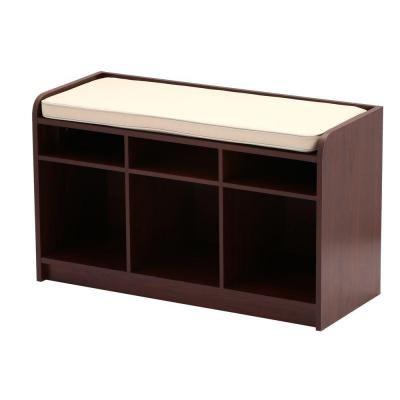 Charmant Martha Stewart Living 35 In. X 21 In. Dark Cherry Storage Bench With Seat