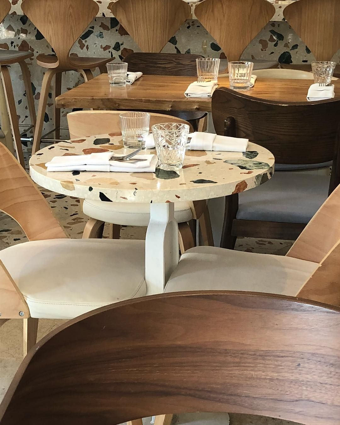Terrazzo Tabletop In Moscow Restuarant #terrazzo