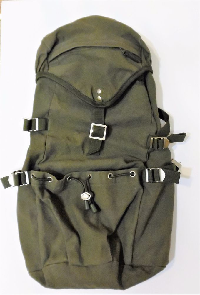 e48780363b GAP Large Army Green Canvas Rucksack Backpack 3 Outside Pockets NEW OLD  STOCK  Gap  Backpack