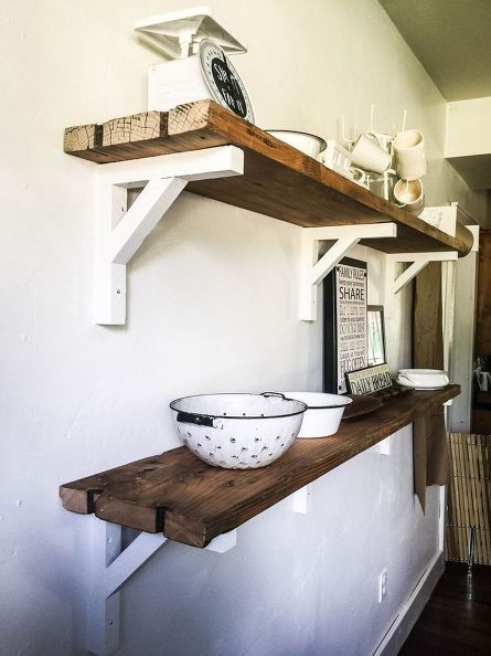How I Built Reclaimed Wood Shelves Dining Room Ideas Repurposing Upcycling Shelving Ideas Woodworking Proje