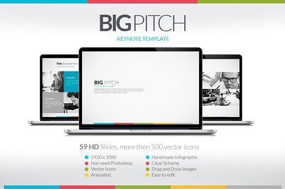 Big Pitch Keynote Presentation  Keynote Presentation Templates And