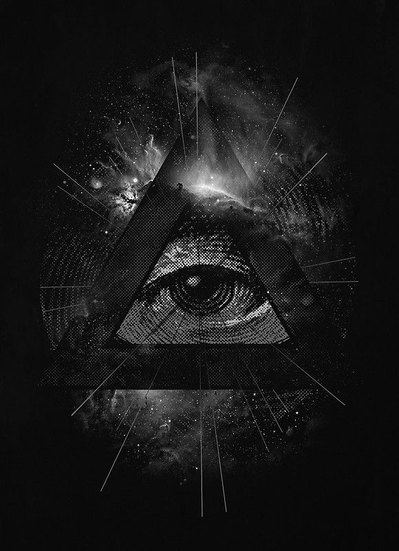 The Eye Poster By Nicebleed Illuminati Art Nicebleed Cool Artwork