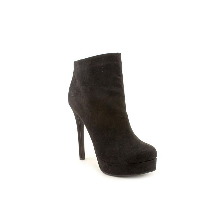 0c05f4a6d20 Chinese Laundry Women s Look Out Faux Suede Ankle Bootie Taupe Black Size  9.5