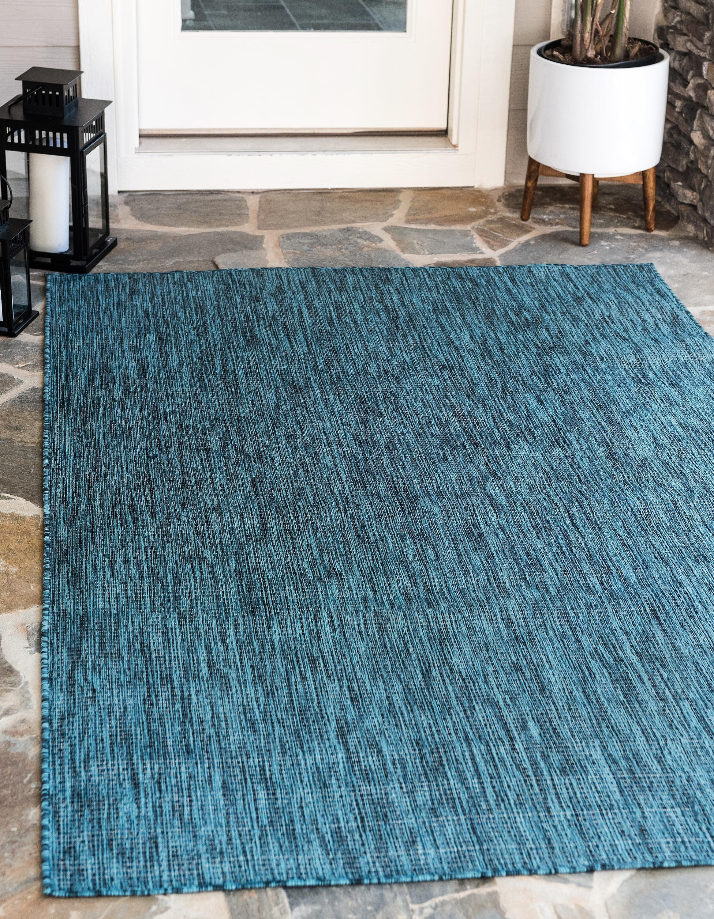 Teal 9 X 12 Outdoor Solid Rug Esalerugs Solid Rugs Solid Area Rugs Area Rugs