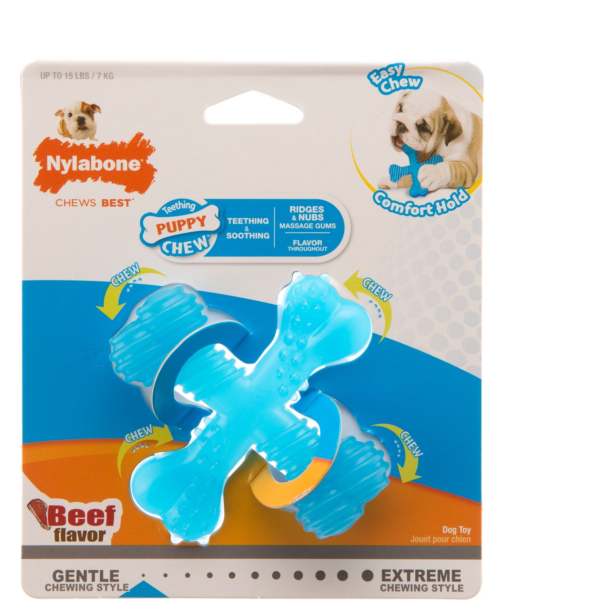 Nylabone Puppy X Bone Dog Toy In 2020 Dog Toys Puppies Puppy