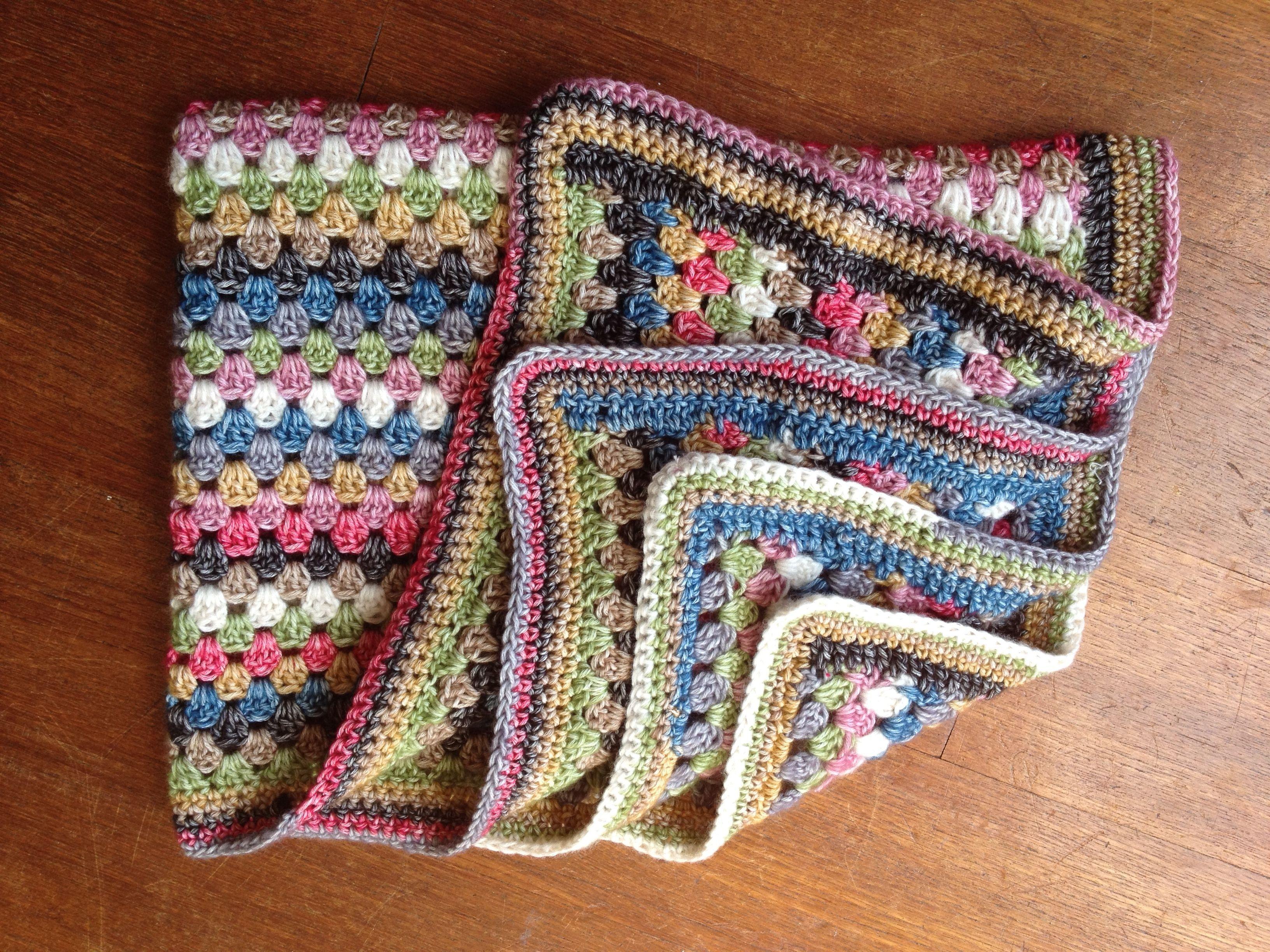 Crocheted throw, Scheepjeswol Stone Washed