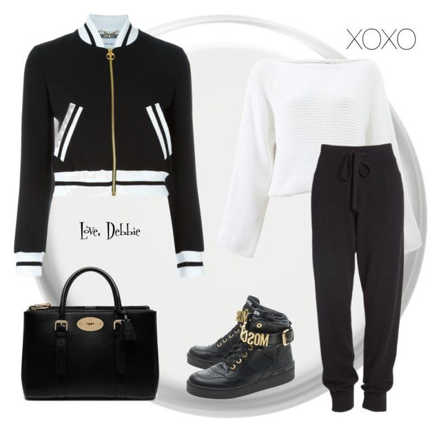 """""""XOXO"""" by debbie-michailides ❤ liked on Polyvore featuring Moschino, Rosetta Getty, Mulberry, Donna Karan, women's clothing, women, female, woman, misses and juniors"""