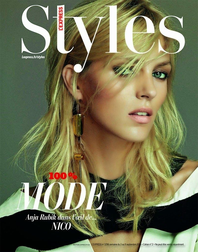 """""""Season Review"""" Anja Rubik by Nico for L'Express Styles September 2014"""
