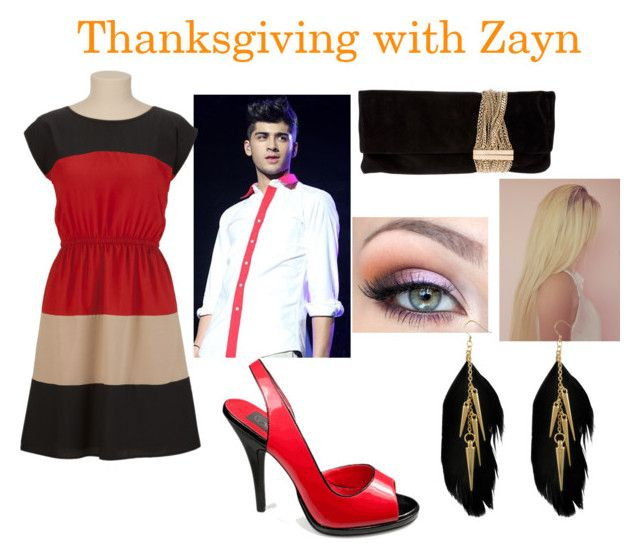 """""""thanksgiving with zayn"""" by myoutfitsss ❤ liked on Polyvore featuring Miso and Jimmy Choo"""