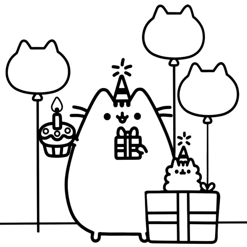 Related image | Coloring Pages | Coloring pages, Pusheen coloring ...