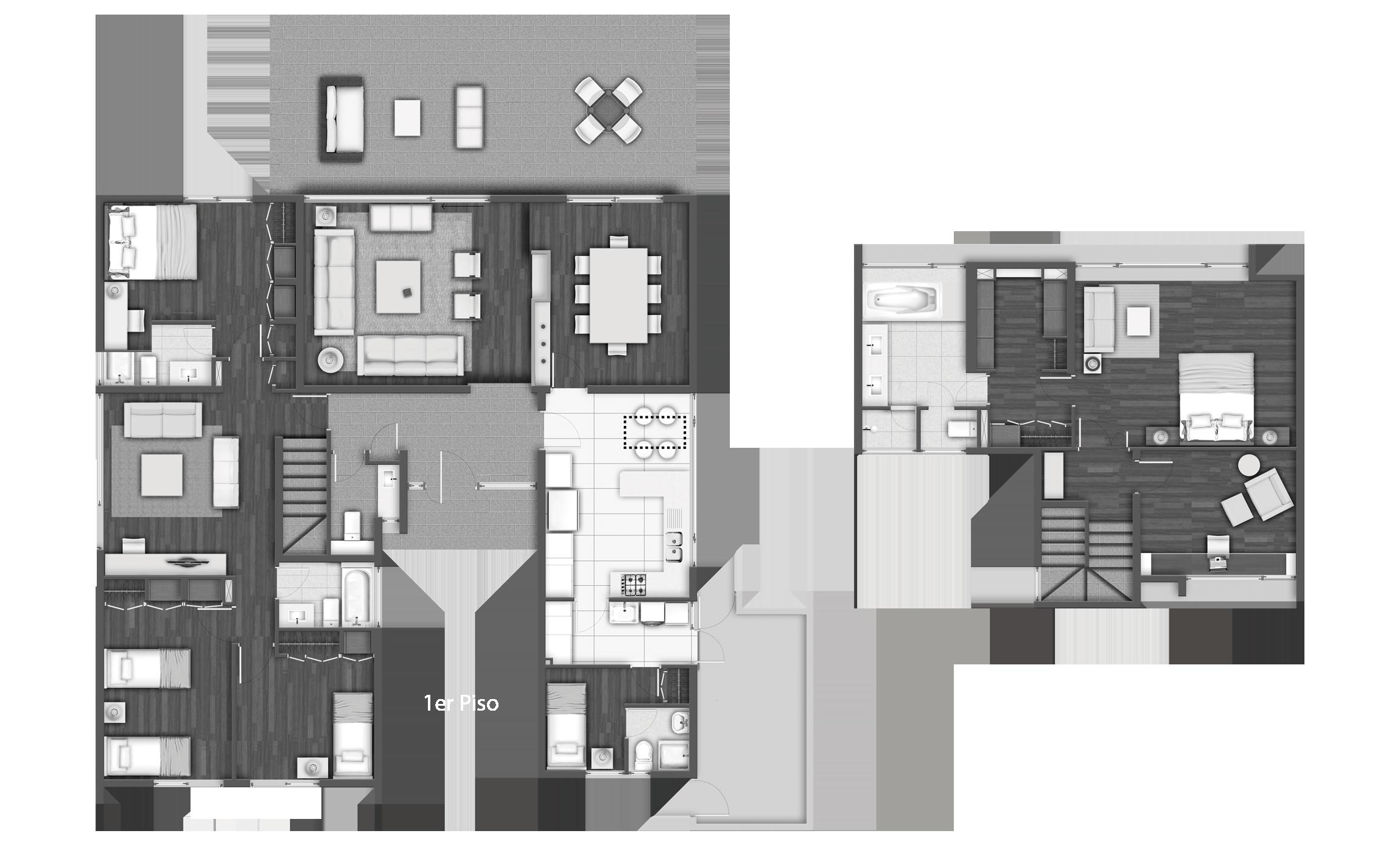 Aguapiedra planos casas pinterest planos casas for Casa clasica procrear terminada
