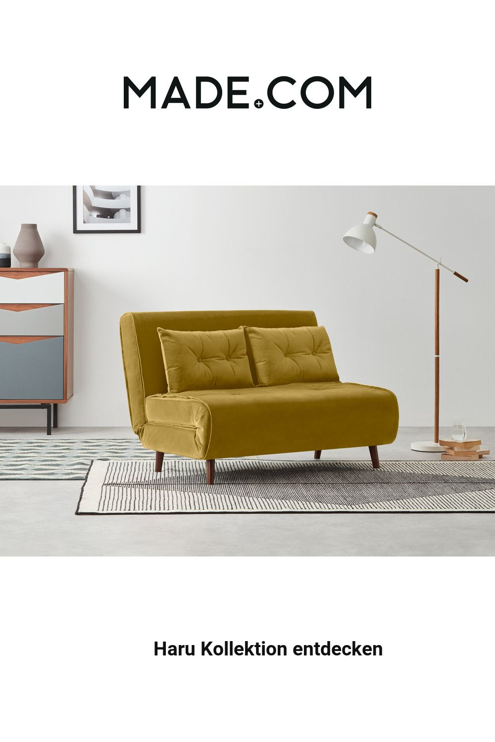 Made Schlafsofa Gold In 2020 Small Sofa Sofa Bed Vintage Sofa Bed