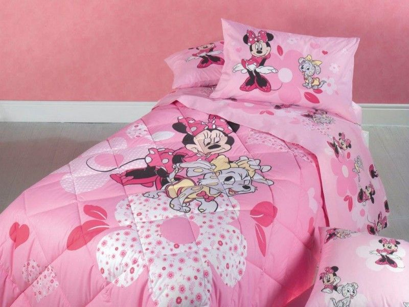 Disney minnie trapunta piumone letto singolo caleffi cameretta bambina - Biancheria letto disney ...
