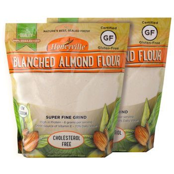 Honeyville Blanched Fine Almond Flour (2) 3 lbs bags