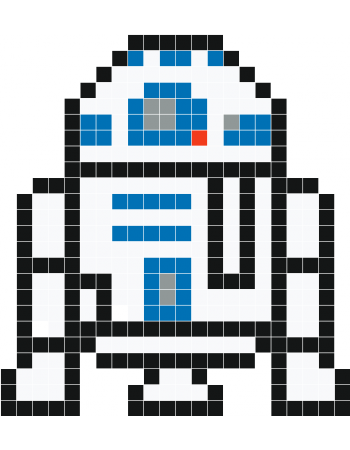 R2D2 pixel art - Stickaz | minecraft pixels$$$ | Pinterest ...