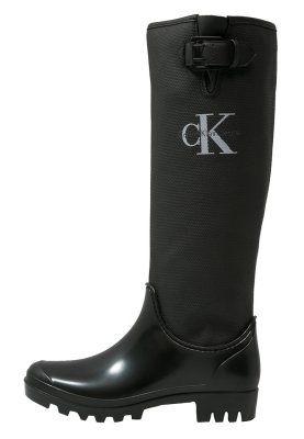 Calvin Klein Jeans Portia Botas De Agua Black Zalando Es Ropa De Lluvia Botas De Tacon Botas Negras