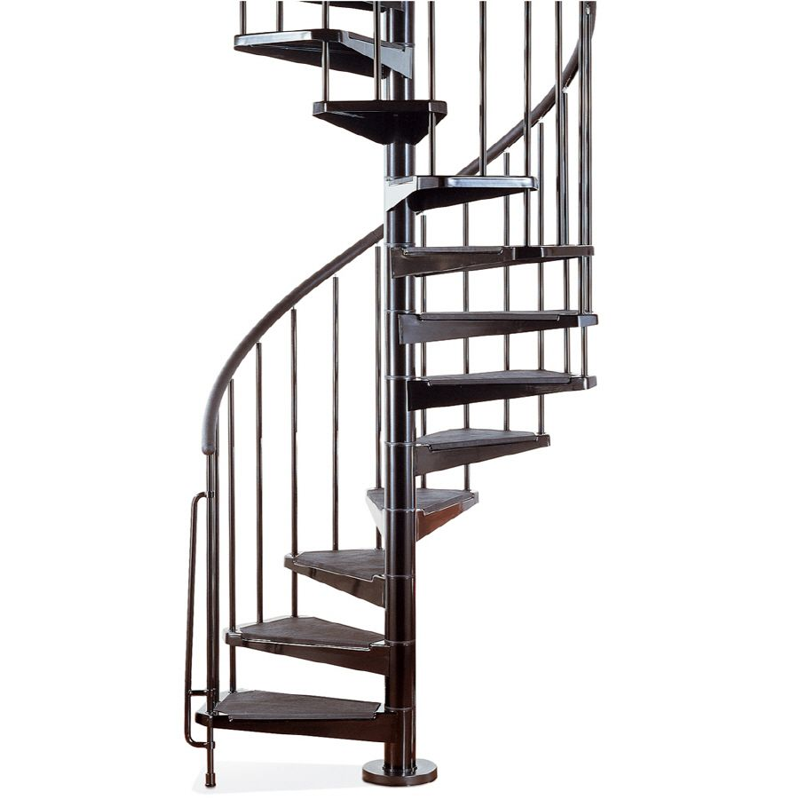 Best Arke Civik 47 In X 10 Ft Black Spiral Staircase Kit 640 x 480