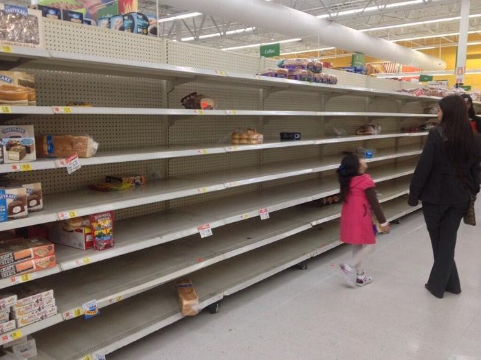 Image result for empty grocery shelves
