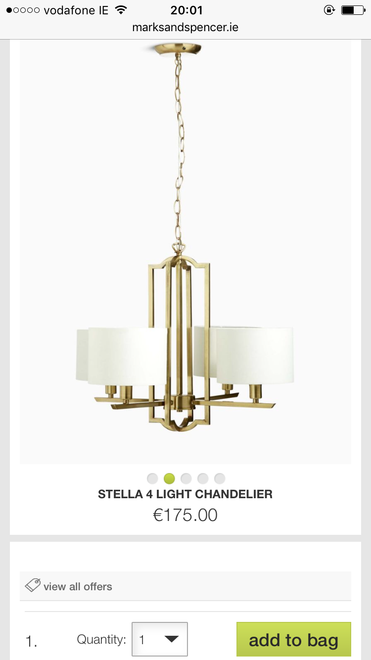 Stella chandelier from marks and spencer home. Love it so much I ...