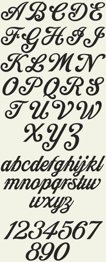 Cool Font Alphabets  Letters    Fonts Tattoo And