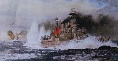 The final moments of HMS Hood
