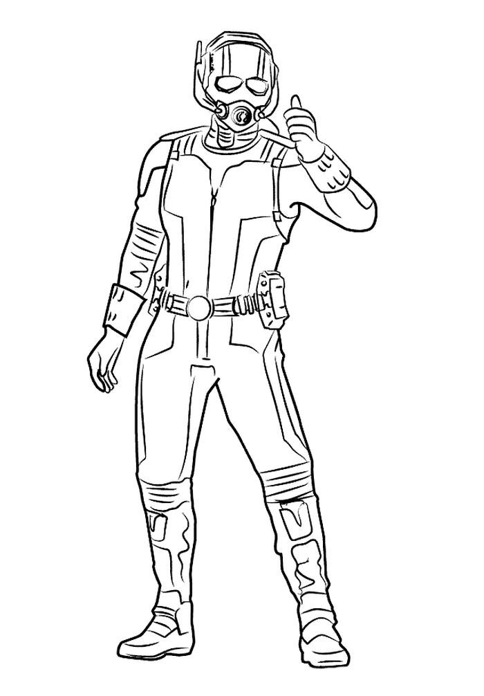 Ant Man Coloring Page Collections in 2020   Captain ...