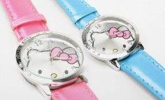 72c32770875 Elegantní dámské hodinky s oblíbeným motivem kočičky Hello Kitty ...