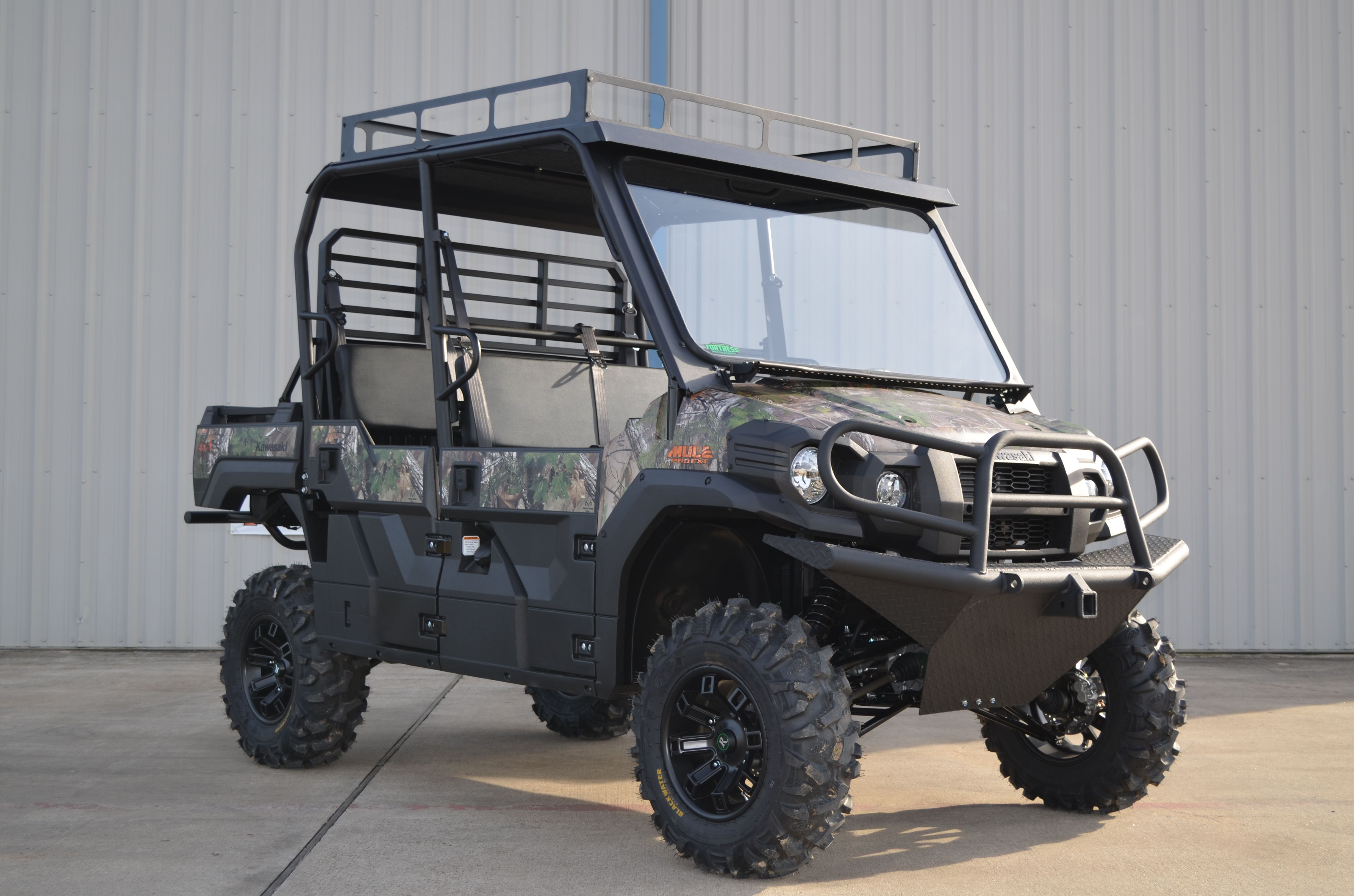 Our first 2015 Kawasaki Mule Pro FXT with a lift kit