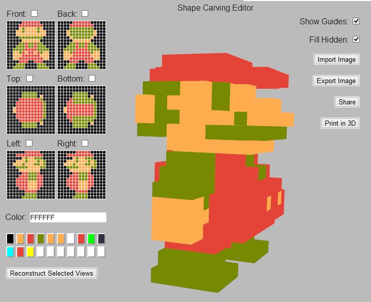 3D shape builder from pixel art | Pixel art | Character