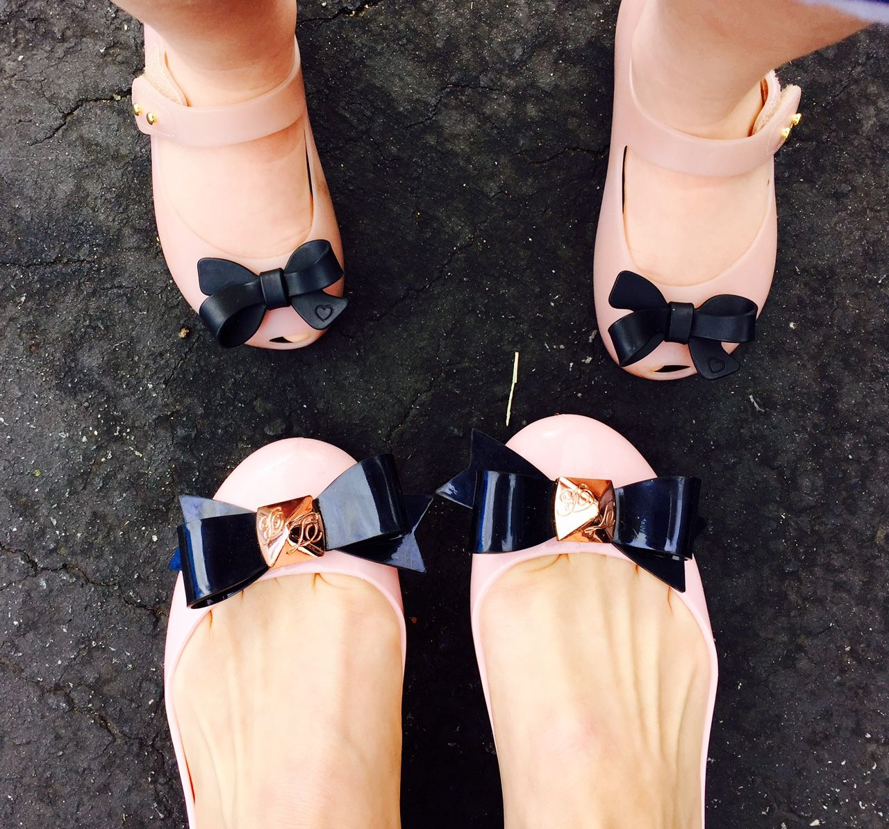 matching shoes for mother and daughter