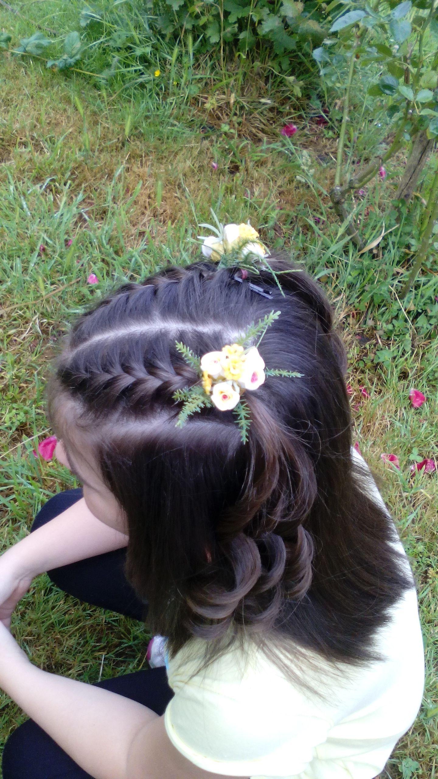 peinado niña de primera comunion