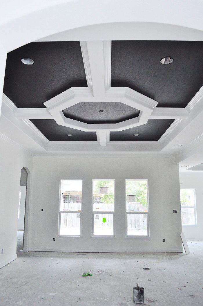 New House Update Walls Tray Ceilings Doors Monica Wants It Updating House Ceiling Design Wood Doors Interior