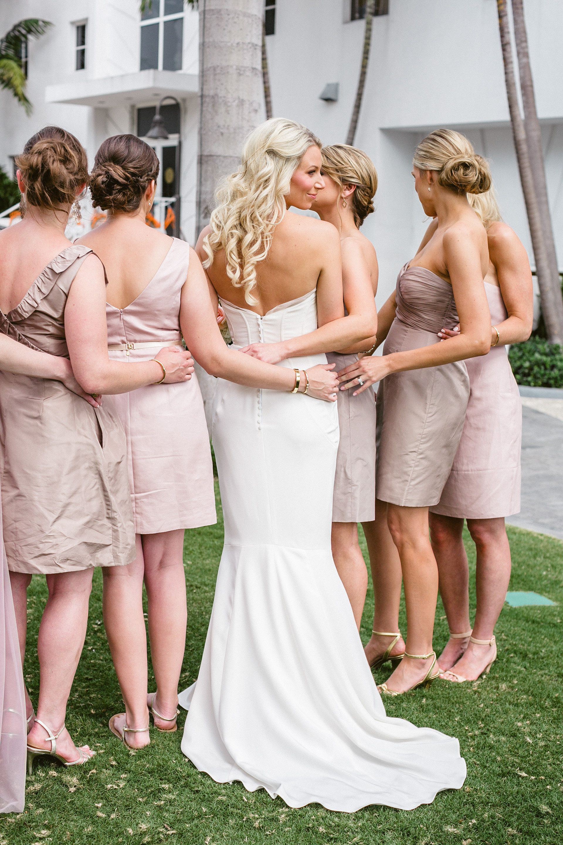 Classic miami wedding with a modern twist jasmine star miami classic miami wedding with a modern twist j crew bridesmaid dressesbridesmaid ombrellifo Images