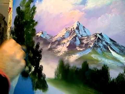 Paint With Kevin Hill Soft Meadow Youtube Winter Painting Bob Ross Paintings Bob Ross