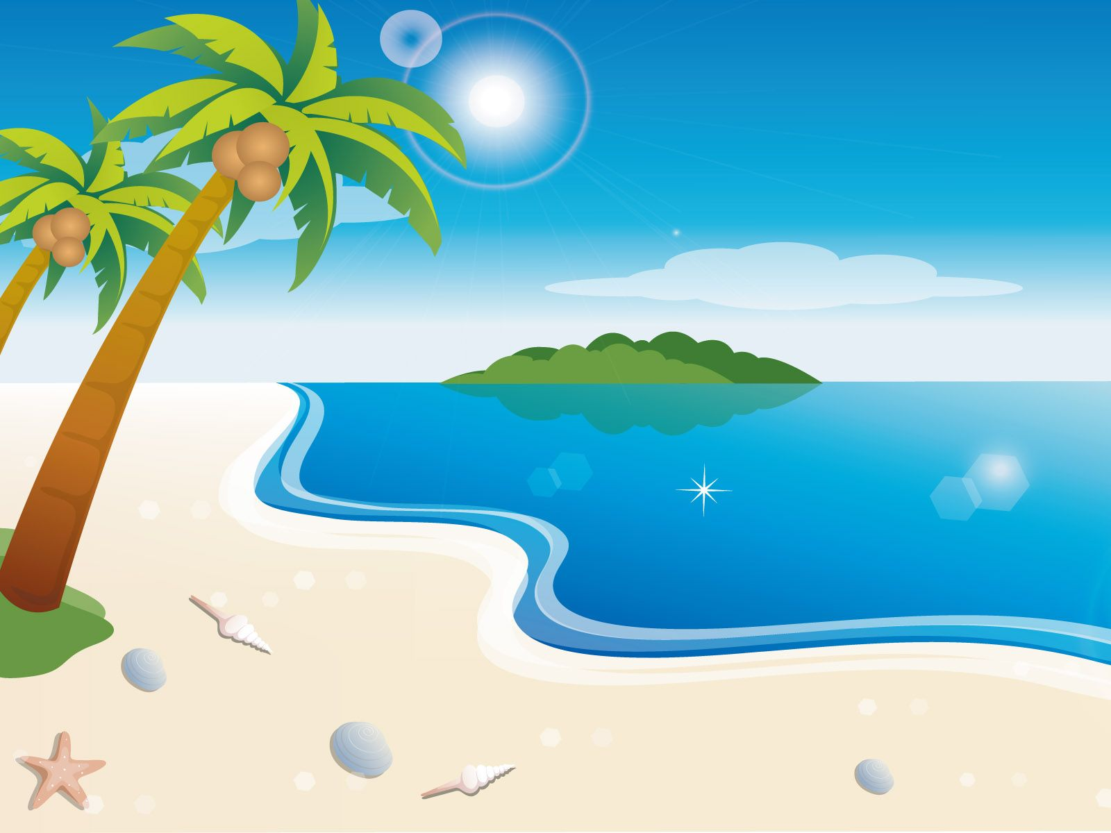 Image result for summer background beach cartoon