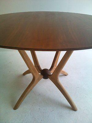 Vintage 1950s 60s Eames Era Retro Cherry Dining Table