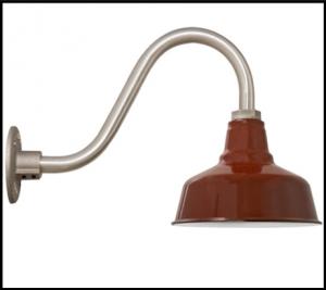 Red Gooseneck Lighting That Draws Your Eye In Gooseneck Lighting Lighting Barn Lighting